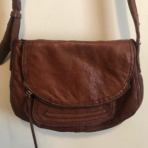 Lucky Brand brown leather small crossbody